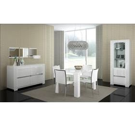 Elegance White Highgloss Dining Collection 1 door wall unit