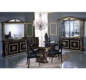 Rossella H2O Black & Gold 4 Door Wall Unit