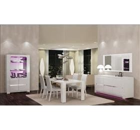 Elegance Diamond Highgloss White 2 draw wall unit