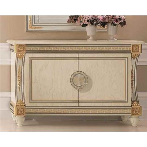Arredoclassic Liberty Ivory with Gold Italian 2 Door Medium Sideboard
