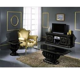 Rossella H2O Black & Gold Living Room Collection