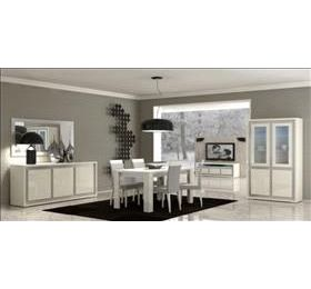 Perfecta Highgloss Ivory Dining Room Collection