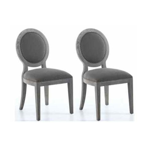 Shankar Manor Antique Grey Dining Chair (Pair)