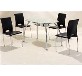 CORFU ROUND GLASS DINING SET