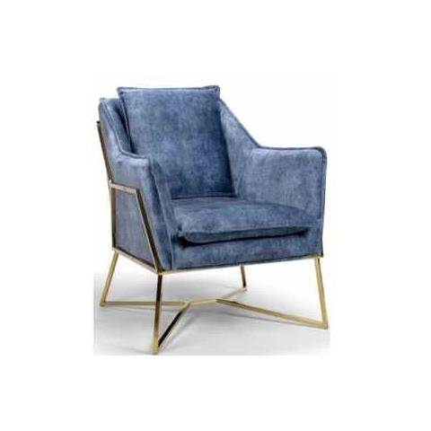 Shankar Midnight Blue Denim London Lounge Chair