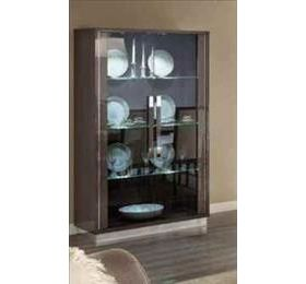 Platinum Highgloss Grey 2 Door Wall Unit