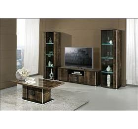 Athen Italian Dark Highgloss Living Room Set
