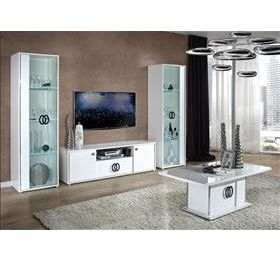 Athen Italian Highgloss White Living Room Set
