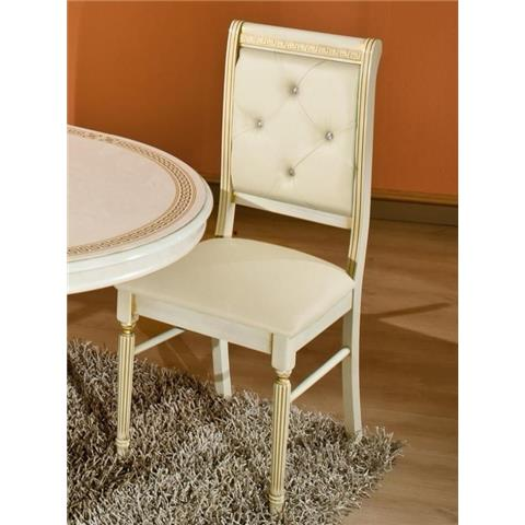 H2O Design Rossella Beige Radica-Gold Chair With Crystals