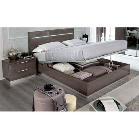 Camel Letto Legno Platinum Night Italian Luna Storage Bed