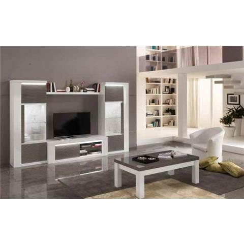 Venezia Grey & White Highgloss TV HI-FI Unit