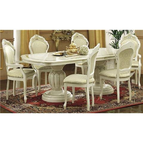 Camel Leonardo Italian Extending Dining Table with 4 Chairs and 2 Armchair