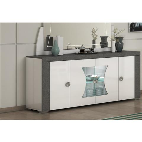 SAN MARTINO LINUX 4 DOOR SIDEBOARD WITH LED LIGHT