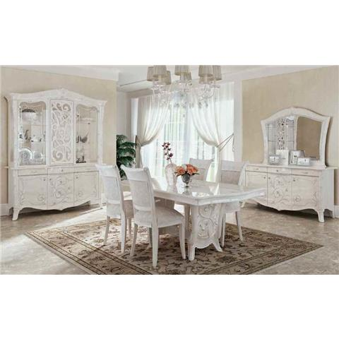 Giulietta Ivory White Dining Table & 6 Chairs