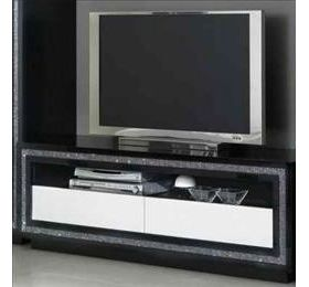 Prestige Black & White Diamante Plasma TV Unit