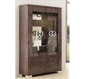 Prestige Umber Birch 2 Door Glass Cabinet