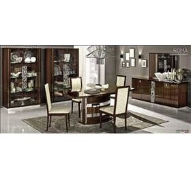 Roma Walnut High Gloss Extending Dining Table