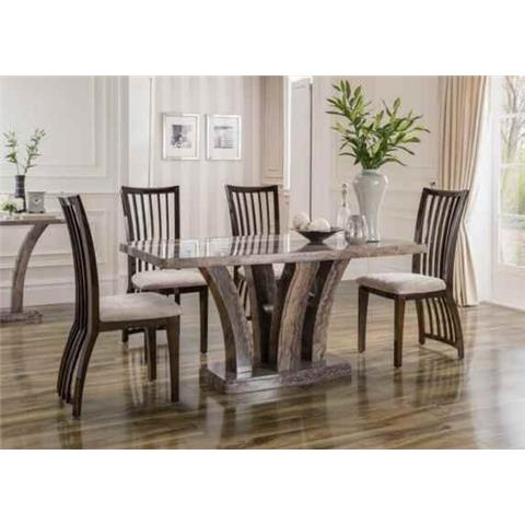 Amalfi Marble 1600 6 Seater Dining Set