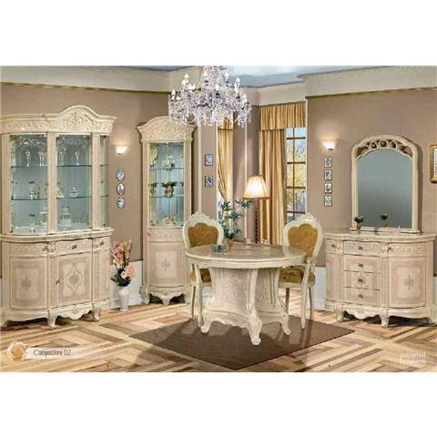 Versailles Italian Cream 3 Door Wall Unit