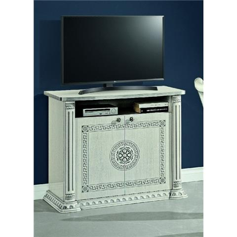 H2O DESIGN AURORA WHITE-SILVER LOW SIDEBOARD