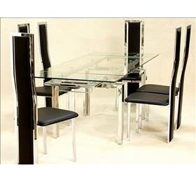 CRYSTAL CLEAR GLASS EXTENDING - TRINITY CHAIRS