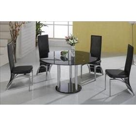 DURBAN ROUND GLASS DINING SET