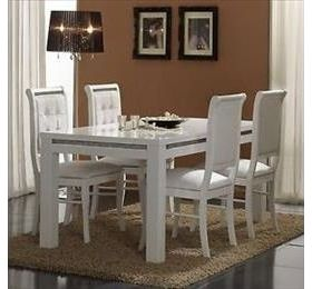 Prestige high gloss 160cm Dining Table with a diamanté trim with 4 chairs