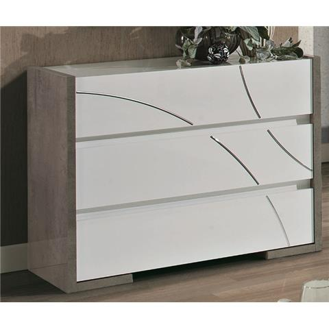 Milano Grey Highlgoss 3 Door Dresser