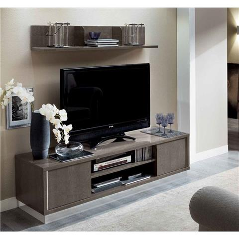 Camel Platinum Day Silver Birch Italian TV Cabinet