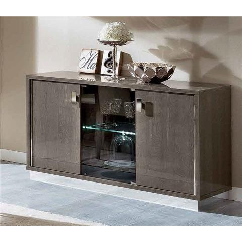 Camel Platinum Day Silver Birch Slim Italian Buffet Sideboard