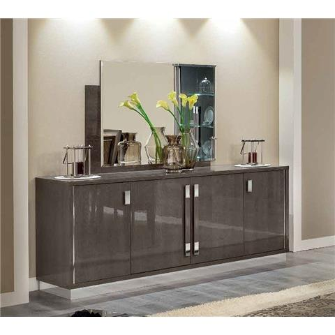Camel Platinum Day Silver Birch Slim Italian Large Buffet Sideboard