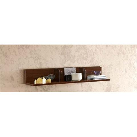 Camel Roma Day Walnut Italian L Shaped Shelf