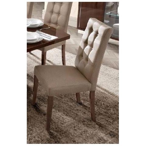 Camel Roma Day Dama Walnut Ecoleather Vermont Italian Dining Chair