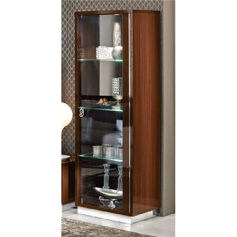Camel Roma Day Walnut Glamuor Italian Right Hand Facing Glass Cabinet