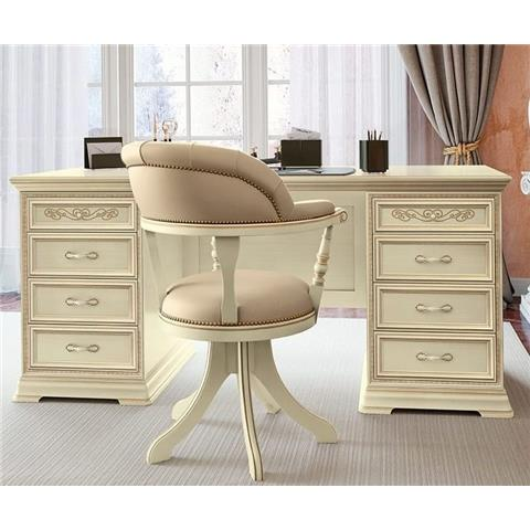 Torriani Day Ivory Italian 8 Drawer Writing Desk