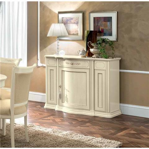 Camel Torriani Day Ivory Italian Mini Buffet Sideboard