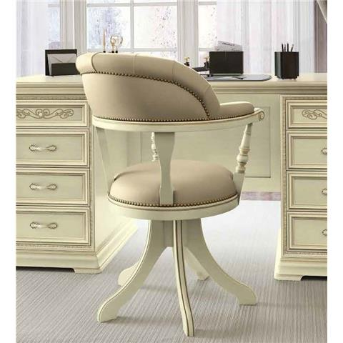 Torriani Day Ivory Italian Swivel Chair