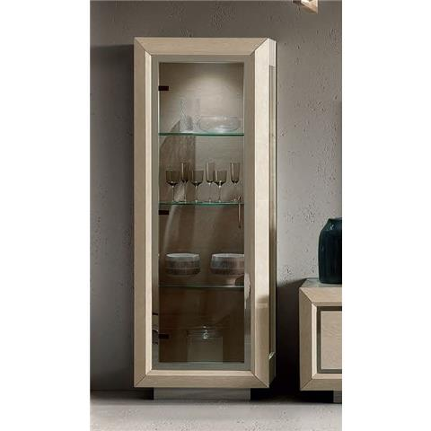 Camel Elite Day Sand Birch Italian 1 Door Vitrine