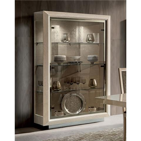 Camel Elite Day Sand Birch Italian 2 Door Vitrine
