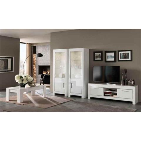 Modena Highgloss White 1 Door Wall Unit