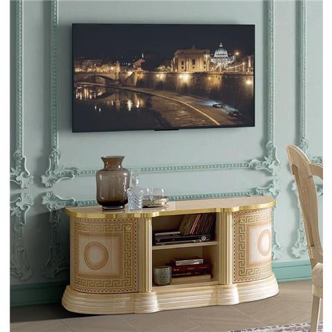 Camel Aida Day Ivory Italian Mini TV Cabinet