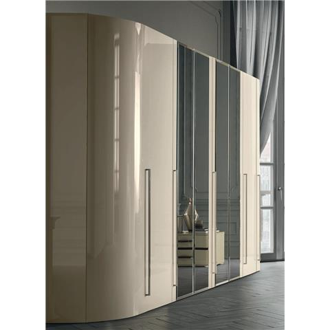 Camel Altea Italian mirrored door wardrobe