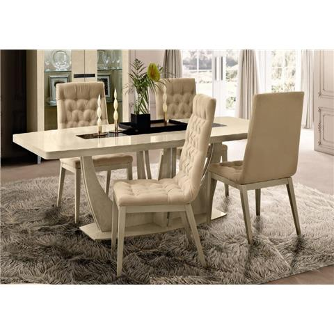 Camel Ambra Ivory Italian Small Extending Dining Table