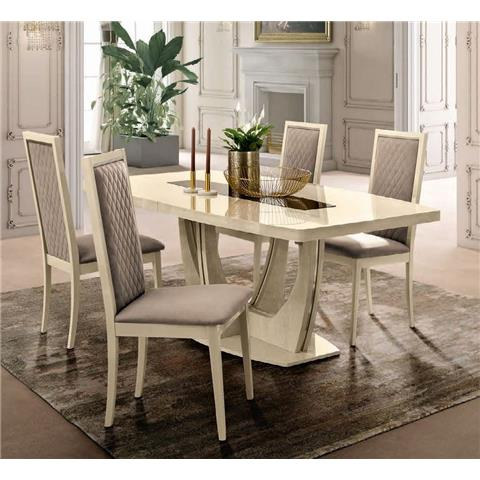 Camel Ambra Ivory Italian Large Extending Dining Table
