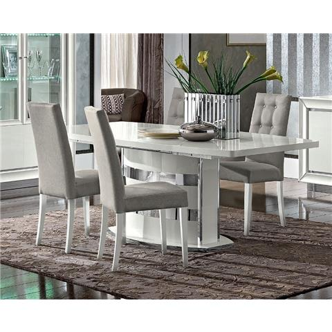 Camel Dama White Italian Large Extending Dining Table