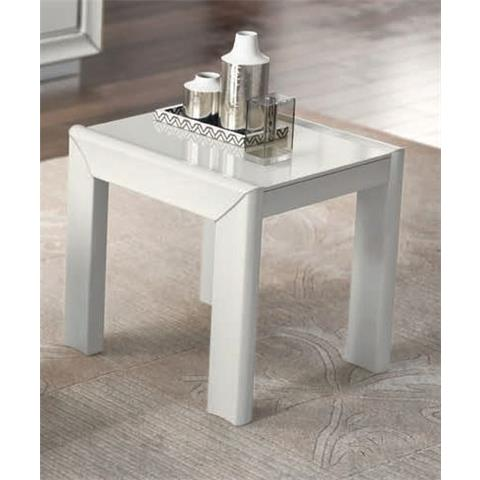 Camel Dama White Italian Tavolino Lamp Table