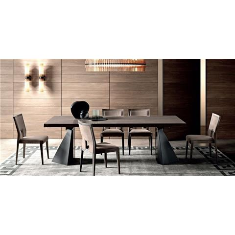Camel Elite Day Italian Extending Dining Table and 6 Ambra Dining Chairs