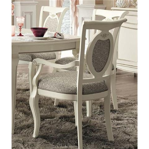 Camel Fantasia Day Antique White Italian Armchair
