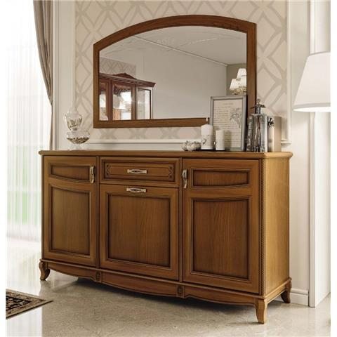 Camel Fantasia Day Walnut Italian Buffet Sideboard