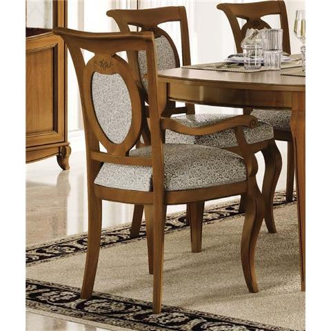 Camel Fantasia Day Walnut Italian Armchair